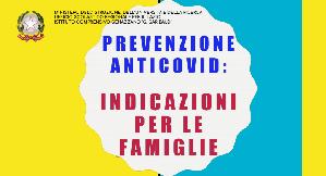 Prevenzione anticovid, indicazioni per le famiglie.